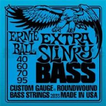 ERNIE BALL EXTRA SLINKY NICKEL ROUNDWOUND BASS GUITAR STRINGS